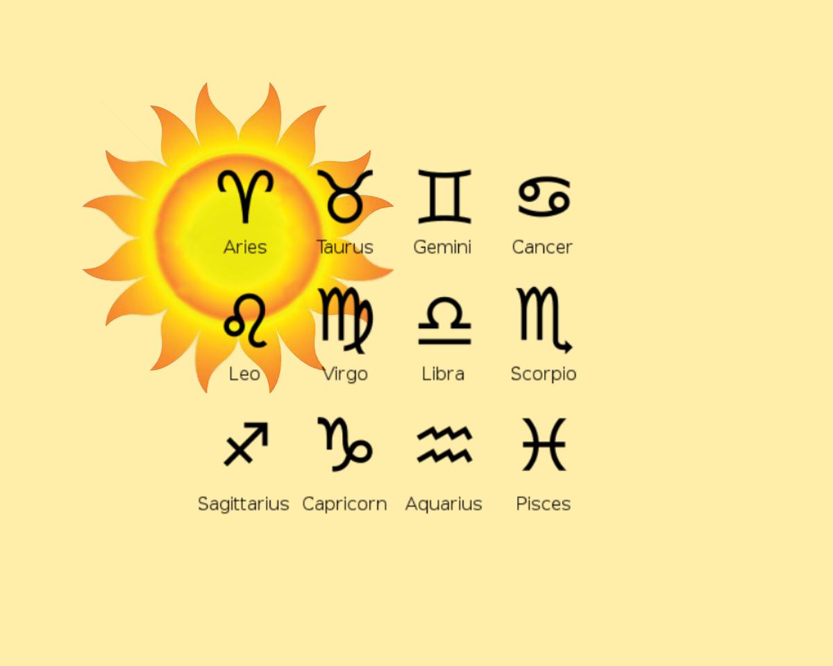 sol y signos del zodiaco